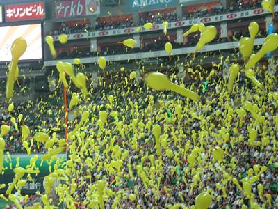 Fukuoka Yahoo Dome - balloons!!!!