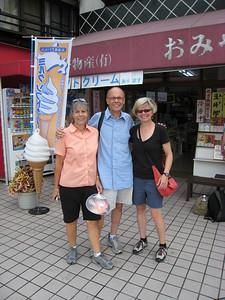 Marty, John, and Shelley in Iwakuni