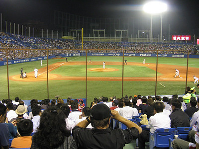Jingu Stadium - infield and stands