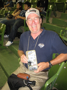 Dave is entrusted to carry his own rail pass to this game.