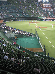 Seibu Dome - on the field bullpens!!!