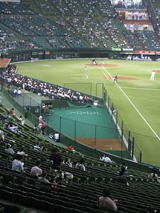 Seibu Dome - on the field bullpens!!!