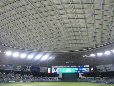 Seibu Dome - 'cap' over field