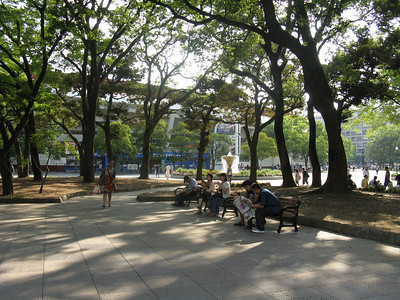 Yokohoma Stadium - park outside the stadium