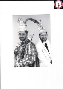 1986 - 1987 Stadsprins Frank Boerboom en adjudant Jan Berens (Paljas)