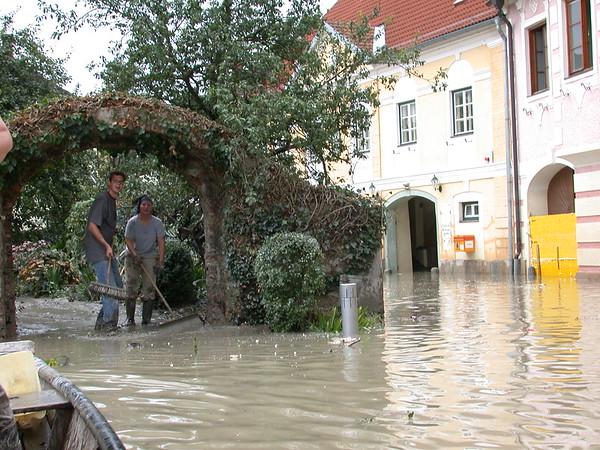 Hochwasser am 15. August 2002 in Emmersdorf