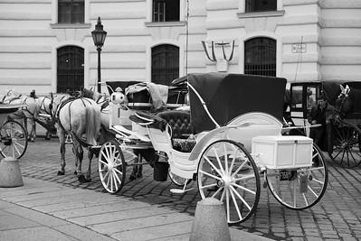 Viele dieser Pferdekutschen sind mittlerweile über 100 Jahre alt und werden in den Wintermonaten aufwendig restauriert. Im Winter haben die Fiaker keinen Verdienst.