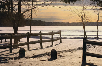 Even in winter, or perhaps especially so, Lincoln County boasts the finest scenery. This shot is from Sunday afternoon at Damariscotta Lake Park. (Mark Allen photo)