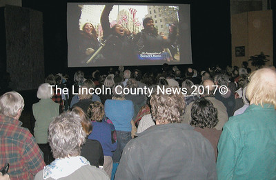 Lincoln County residents celebrate with the country on Inaugural Day. (Cindy McIntyre photo)