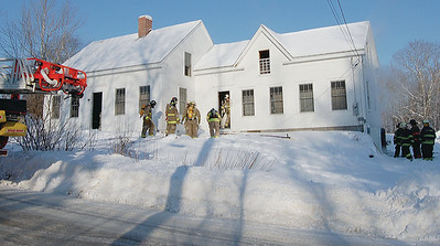 Fire fighters from Nobleboro, Waldoboro, and Damariscotta responded to a fire on Genthner Rd. in Nobleboro the morning of Jan. 21. (E. Elliott photo)