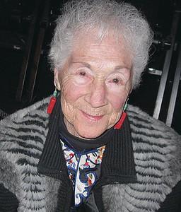 The guest of honor, Muriel Havenstein. (Nancy Wilson photo)