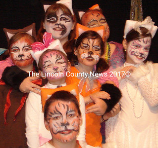 "Fletcher Face Art most recently designed and painted the cast of the Waldo Theatre's production of ""The Aristocats."" (Kim Fletcher photo)"