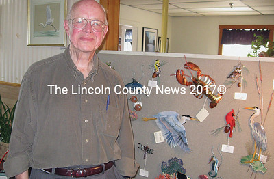 David Flood, with some of his work, at Spectrum Generations Feb. 4.