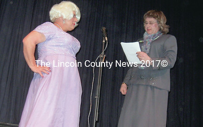 """Abbott (John Mitkus-R) and Costello (Bill Labombarde-L) perform the classic skit """"Who's On First."""""""