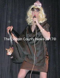 Miss Britt, overall winner, Ms. Midcoast Maine 2009,  Patrick Leeman, with friend