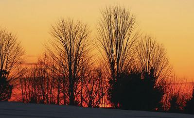 Sunset over Hodgkin's Hill in Jefferson. (Photo courtesy of Mark Allen)