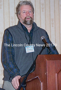 Maine Fishermen's Forum board member, Terry Stockwell of the Maine Dept. of Marine Resources. (Kim Fletcher photo)