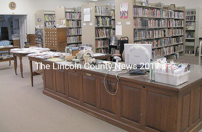 The interior of the Bristol Area Library. Librarian Jackie Bennet hopes the town will provide additional support this year to address increased numbers of patrons. (J Maguire photo)