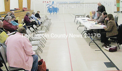 Jefferson residents met with town selectmen to review articles on the warrant and to clarify any questions people had about the issues. Polls will be open on March 31 from 8 a.m. to 8 p.m. at Jefferson Fire and Rescue station. (J Maguire photo)