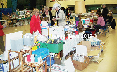 Something for everyone was at the season's first garage sale at the CLC YMCA. (Kim Fletcher photo)