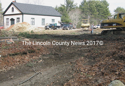 Groundwork for the new Dresden Fire Station project has already started. (J Maguire photo)