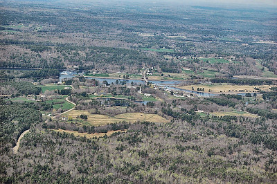Sheepscot Village (Alna and Newcastle) from the air during a Flightime Flying Club tour last week from Wiscasset Municipal Airport. (Greg Foster photo)