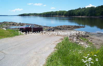 Westport Island's boat launch located on Ferry Road has been scheduled for a proposed landing improvement project, including a pier with floats and enlarged parking area for this public water access. (Greg Foster photo)