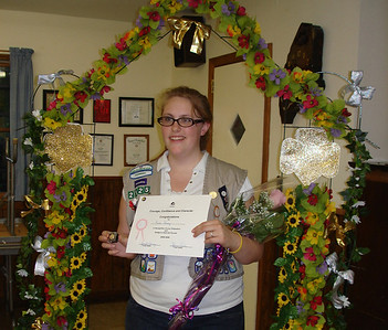 Kristi Kinney 2009 Medomak High School graduate was awarded her lifetime membership.