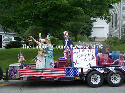 Two Bridges Regional Jail won fourth place for this float in the Wiscasset parade. (Greg Foster photo)