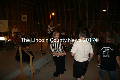 Blues fans boogied out on the dance floor to Dam Blues Fest and Pub Crawl headliners JP Soars the Red Hots at the Darrows Barn in Damariscotta on Saturday. Organizer Paul Sidelinger said everyone he spoke with said they had a wonderful time. Sidelinger said he got a lot of first time and generous donations and plans to another fest next year. (J Maguire photo)