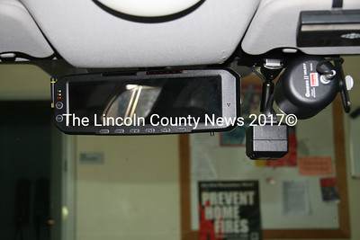 Waldoboro Police have updated their equipment. The new cameras installed in cruisers are aimed at eliminating uncertainties in police work reports. (J Maguire photo)