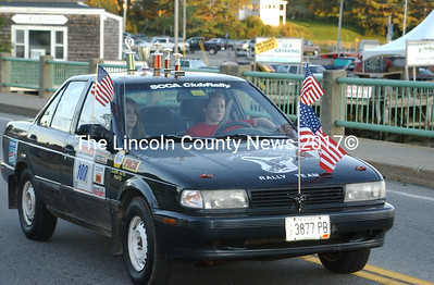 Lincoln Academy's Rally Cross team had two cars in the Homecoming parade.