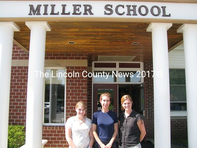 The Miller School acquired three new teachers this year. Shirley Herron (center) teaches 5th grade. Natalie Bernier (left) teaches 1st and 2nd grades and Jan Hall teaches 5th grade. (J Maguire photo)