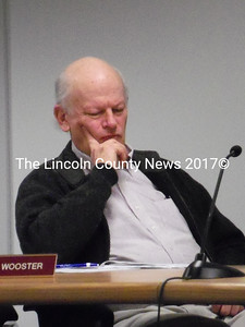 Waldoboro Selectman Ted Wooster reviews information about the federal ConnectME grants to expand high-speed Internet access in Waldoboro. The Board voted to pursue the grants in the coming weeks. (Samuel J. Baldwin photo)