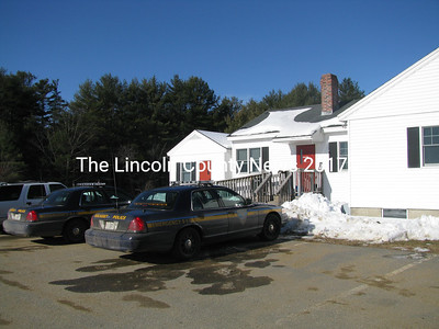 Wiscasset Police have temporarily taken up residence at a former school superintendent's office on Rt. 27. (J Maguire photo)