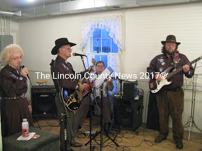 A group of talented musicians came to the Kings Mills Union Hall on Saturday. Members of the Maine Academy of Country Music who gather informally for a variety of events, the group came out to entertain during a local benefit supper. (J Maguire photo)