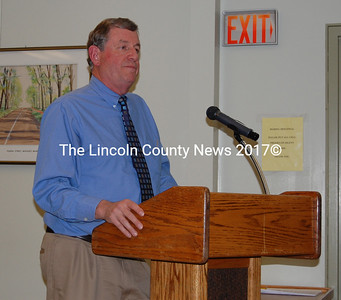 Former Brunswick Town Manager Donald Gerrish spoke with the Wiscasset Board of Selectmen during their Jan. 12 meeting to discuss the possibility of the town hiring him as a consultant in the search for a new town manager.