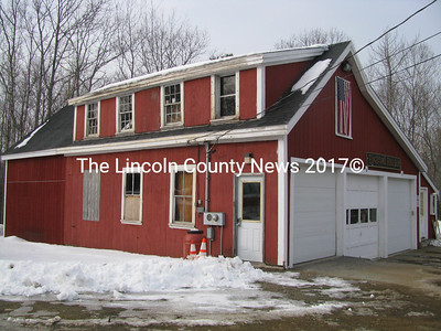 Selectmen are seeking ways to obtain funds to build a new fire station for the town of Edgecomb. The town spent $5000 last year to shore up the roof, they said, but selectman Stuart Smith said the repair was minor in light of the building's deterioration.  (J Maguire photo)