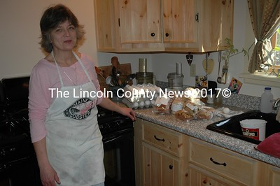 Elaine Waldron makes good gluten-free goodies in Damariscotta. (Joe Gelarden photo).