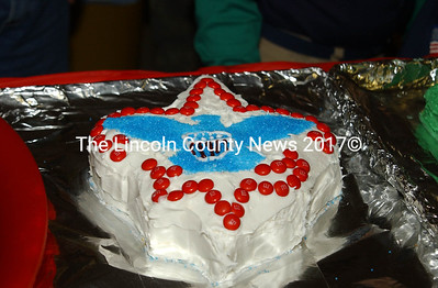 This Scout-themed cake was made by Madison and Andy Allen. (Paula Roberts photo)