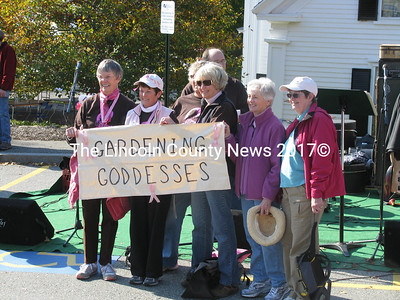 The Gardening Goddesses from Damariscotta raised $3800 for the American Cancer Society this year. (John Maguire photo)