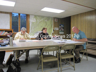 Edgecomb Selectmen review committee appointments during their Oct. 4 Board meeting. (Matthew Stilphen photo)