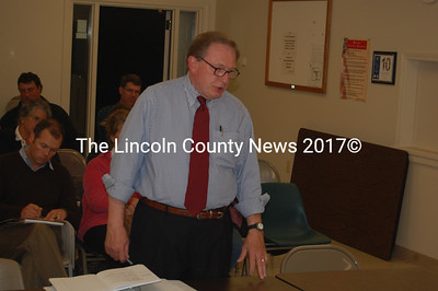 Bob Martin, Chief Operating Officer of Mattson Development, negotiates with the Newcastle Planning Board at their Sept. 30 meeting. (J.W. Oliver photo)