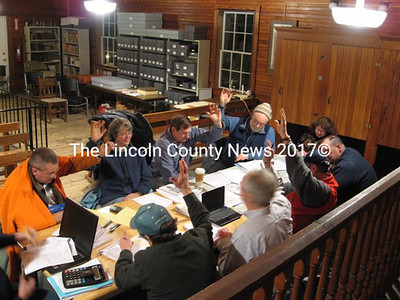 Whitefield selectmen and the budget committee produced a 2010-11 municipal spending plan this week that lopped another $45,000 from the previous worksheet, yielding a bottom line of $733,465. (Lucy Martin photo)