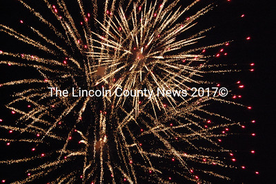 The night sky was aflame with the colors of fireworks marking the incorporation of Pownalborough, kicking off Lincoln County's 250th anniversary celebration on Feb. 13. (J Maguire photo)