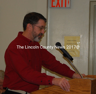 Don Jones addressed the Wiscasset Board of Selectmen Tuesday night regarding potential bypass routes for Wiscasset.