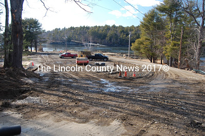 The Ferry Landing project on Westport Island is coming along. Selectmen had previously stated they expected the new town landing project would be completed in April. (J Maguire photo)