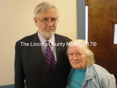 Fern Clark and defense attorney Andrews Campbell. (J.W. Oliver photo)