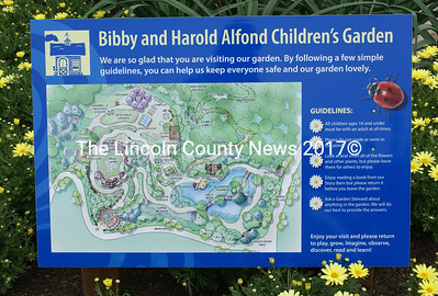 Map of the Bibby and Harold Alfond Children's Garden which opened July 8. (Steve Edwards photo)