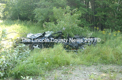 Two teenagers walked away from this crash in Jefferson last week with only minor injuries. Neither young man was wearing a seatbelt. (Paula Roberts photo)